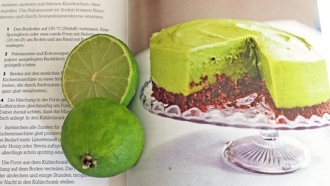 Süsse Schönheit zum Essen: Der vegane Avocado-Limetten-Cheescake