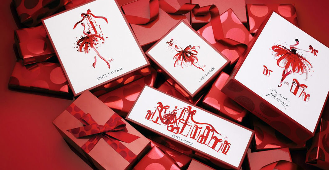 Estee LAuder Holiday Boxes Katie Rodgers Christmagifts presents