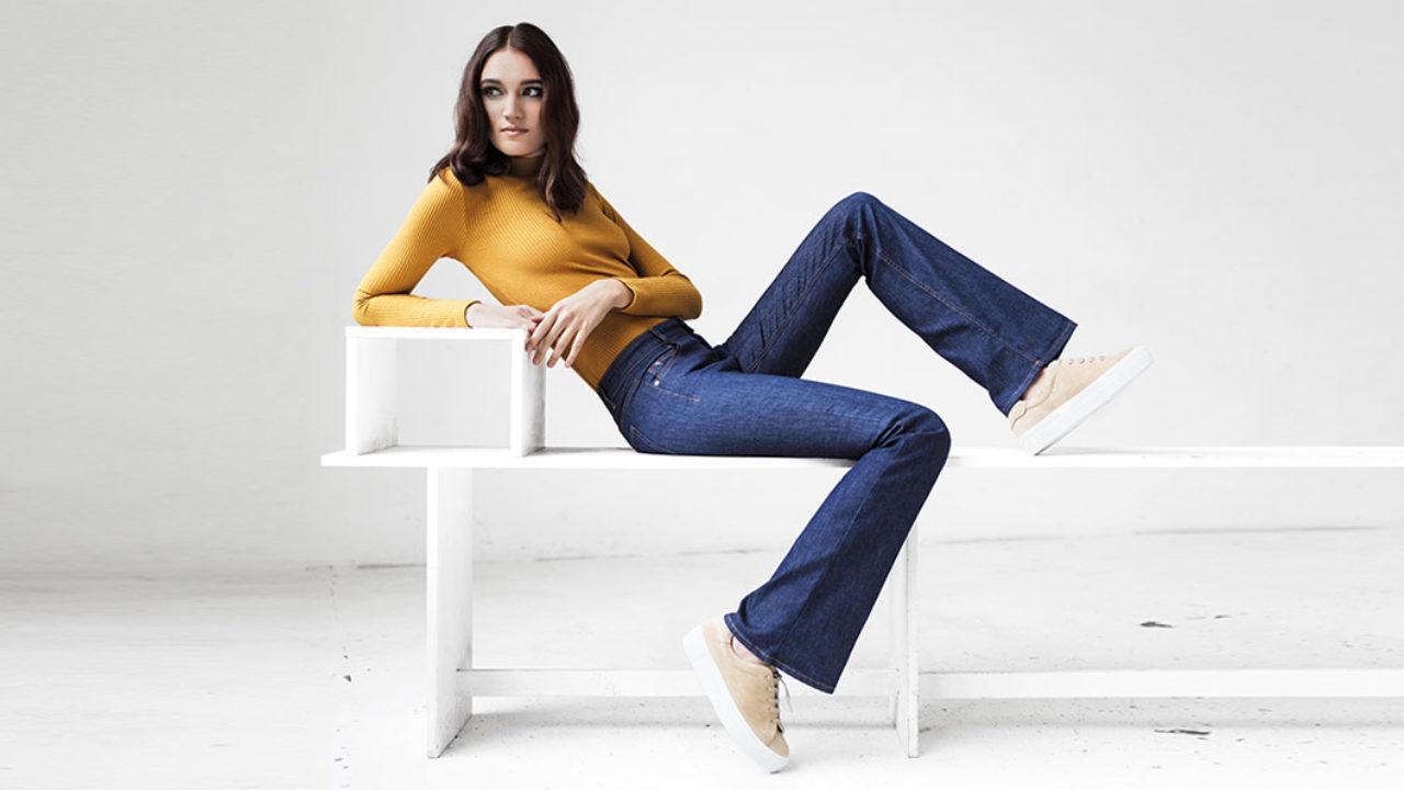 Denim Jeans Flared Fashion Mode