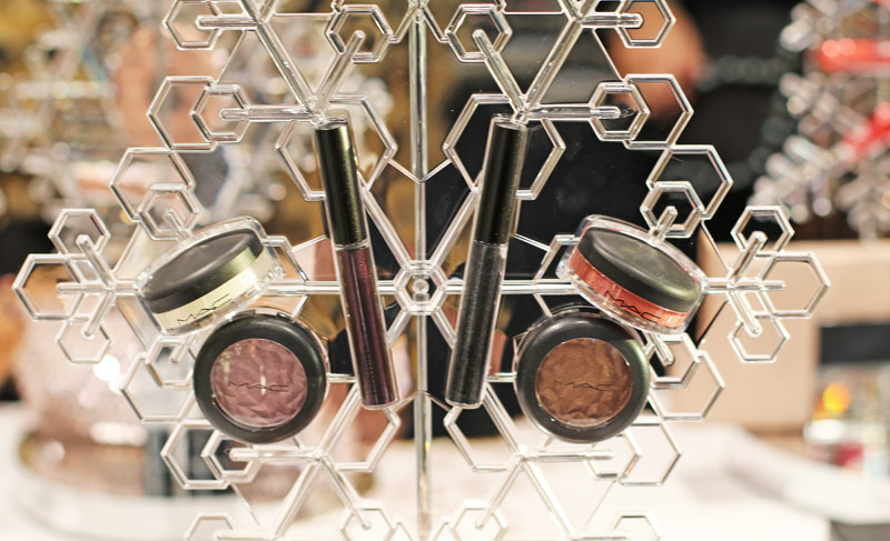 Mac Snowball Collection limited edition lipglass eyeshadow snowflake