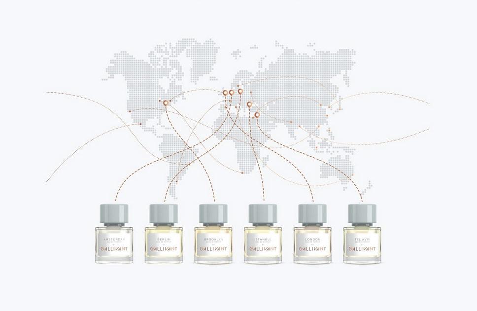 Die Unisex-Parfums des jungen Nischenlabels Gallivant sind duftende Portraits von Städten.