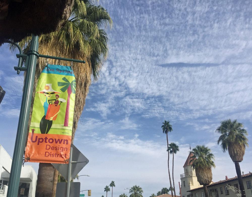 Der Designer District in Palm Springs ist ein Paradies für trendbewusste Liebhaber von Mid Century Modern Architektur.