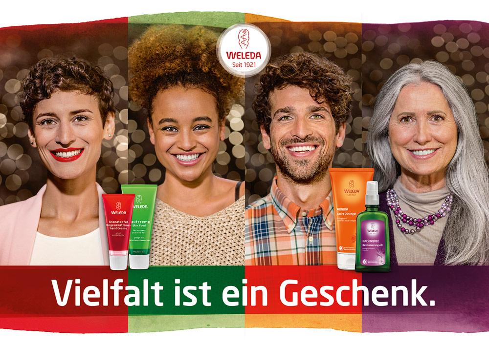 """Die Weleda Weihnachtskampagne steht unter dem Motto """"Vielfalt ist ein Geschenk"""" und auf sonrisa.ch gibt es ein paar Gedanken dazu."""