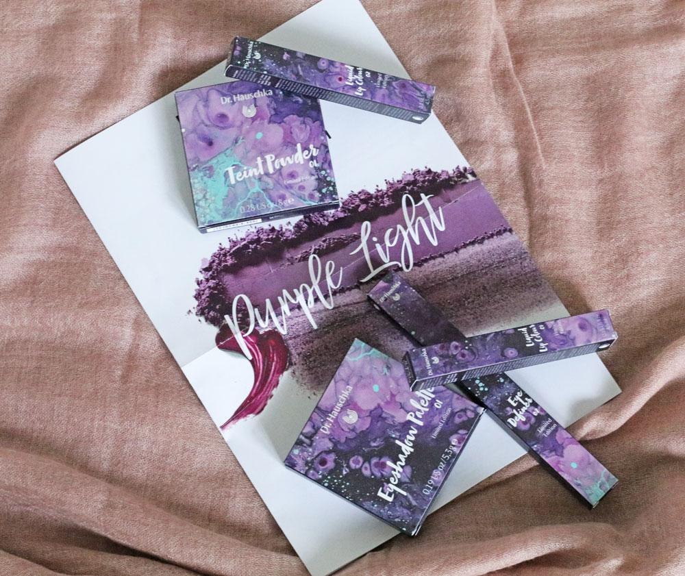 Auf sonrisa gibt es die limitierte Makeup Kollektion Purple Light von Dr Hauschka zum Anschauen und Gewinnen