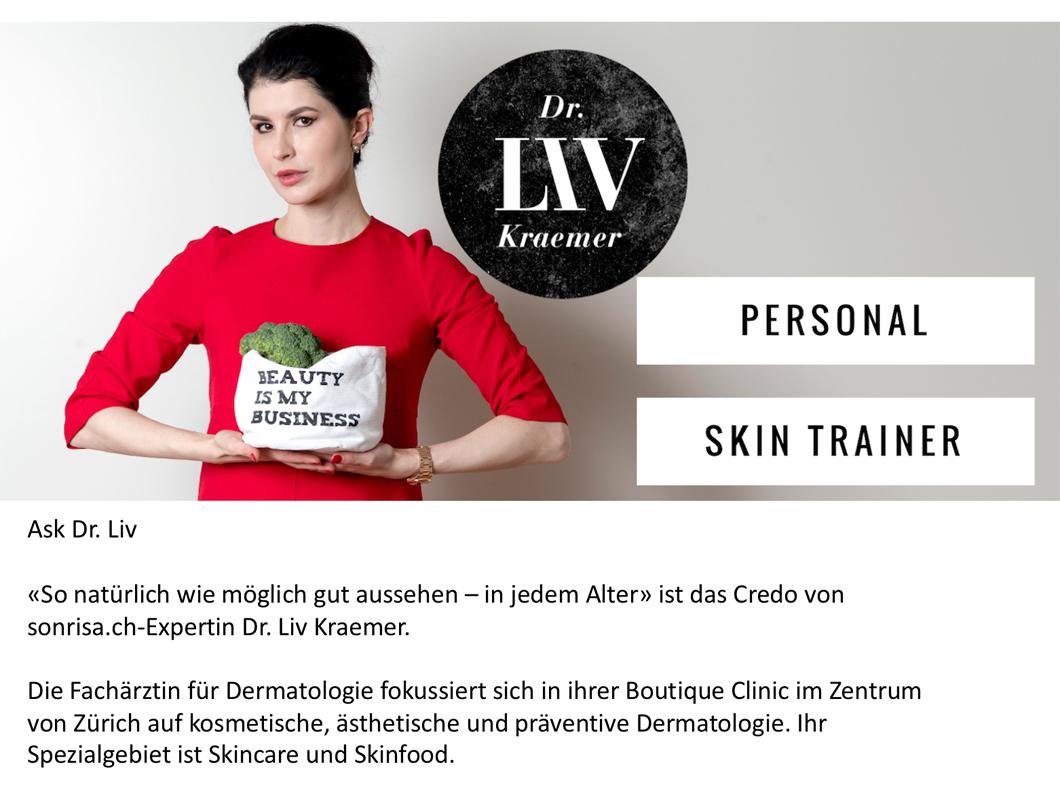 Ask Dr Liv heisst die Gastkolumne der Promi-Hautärztin auf sonrisa.ch.