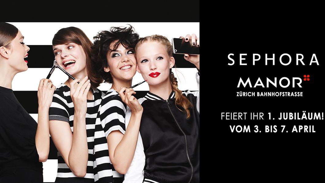 Sephora Zürich feiert das einjährige Jubiläum mit vielen Beauty-Aktionen