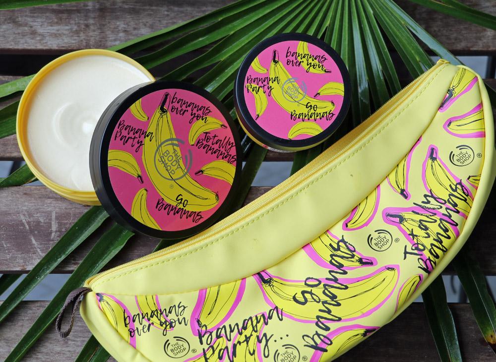 Alles Banane, oder was? The Bodyshop setzt in der neuen limited Edition auf fair gehandeltes Bananenmus als Schönmacher.