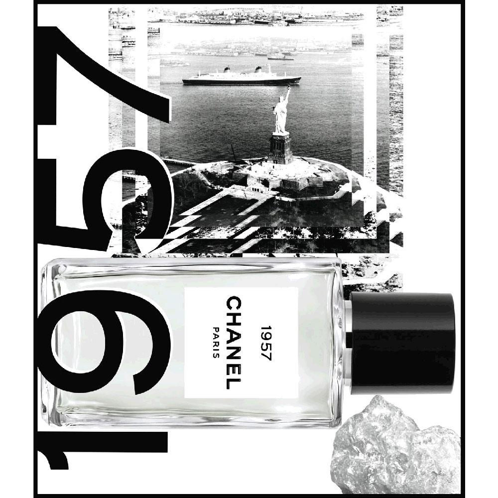 1957 von Chanel ist eine Hommage an die Verbundenheit von Mademoiselle Chanel zu Amerika.