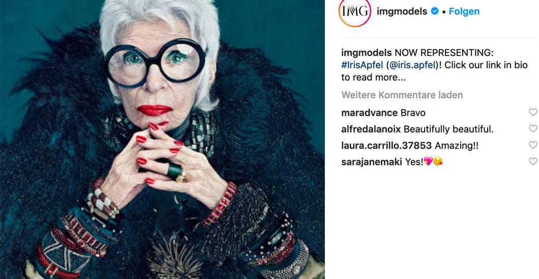Iris rocks: Die 97jährige Stil-Ikone wird als Model unter Vertrag genommen - uIris rocks: Die 97-jährige Stil-Ikone wurde als Model unter Vertrag genommen und beweist damit, dass das Alter nur eine Zahl ist.