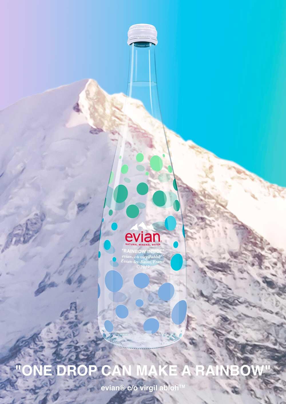 Lifestyle-Guru und Trendsetter Virgil Abloh macht mit der limited edition von evian den Griff zur Wasserflasche besonders stylish.