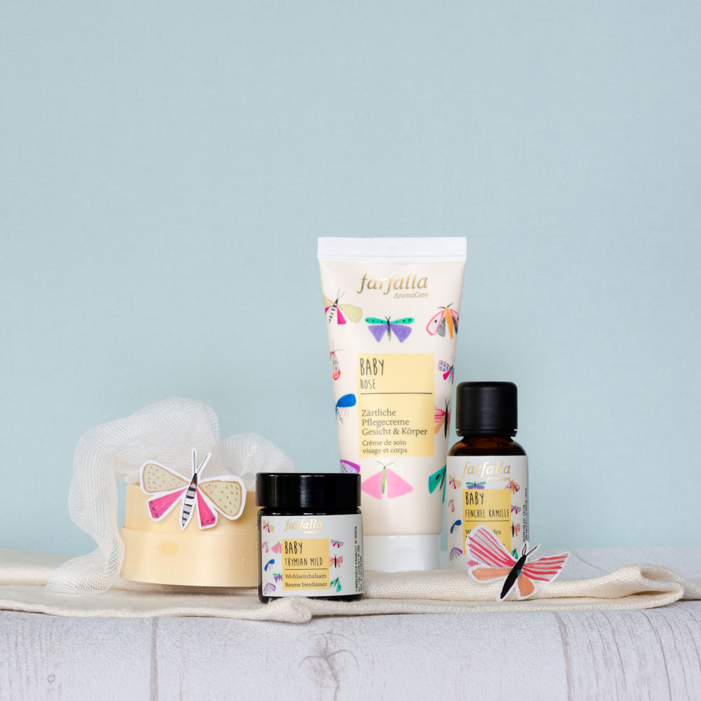 Produkteentwicklering Michèle Prévôt spricht im Interview auf sonrisa über Aromapflege, natürliche Wirkstoffe und natürlich die neue Babypflege von farfalla.