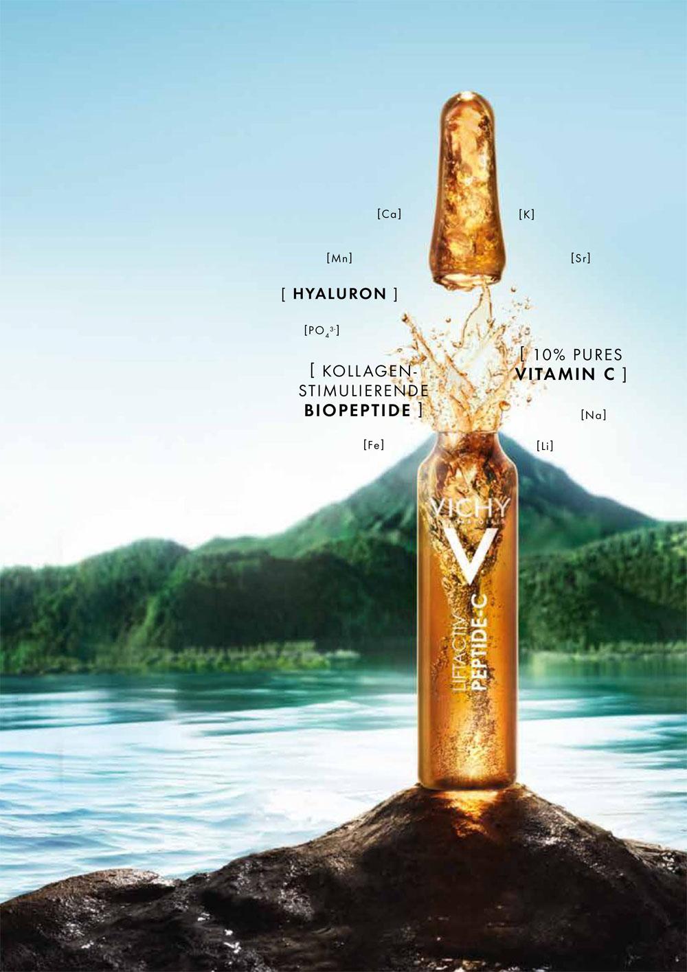 Minimalistische Formel, maximale Wirkung: die Vichy Liftactiv Specialist Peptice-C Anti-Aging Ampullen von Vichy versprechen eine glatte, straffe und strahlende Haut in nur einem Monat.