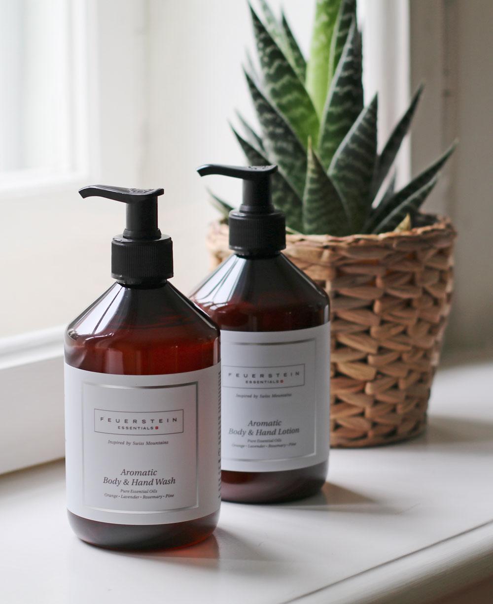 Die neuen Aromatic Hand&Body-Produkte von Feuerstein machen das Händewaschen zum schönen Ritual.