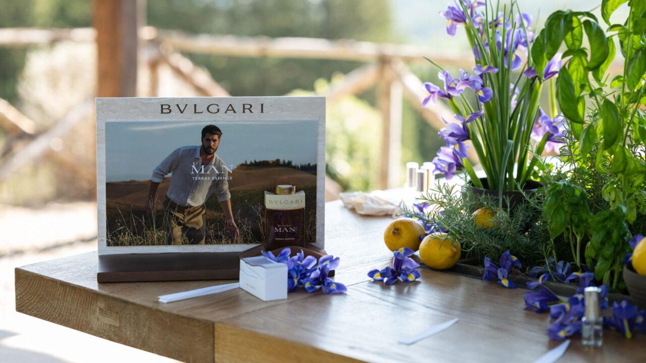 Sonrisa war an der Lancierung von Bvlgari Man Terrae Essence in der Toskana und hat viele Bilder mit