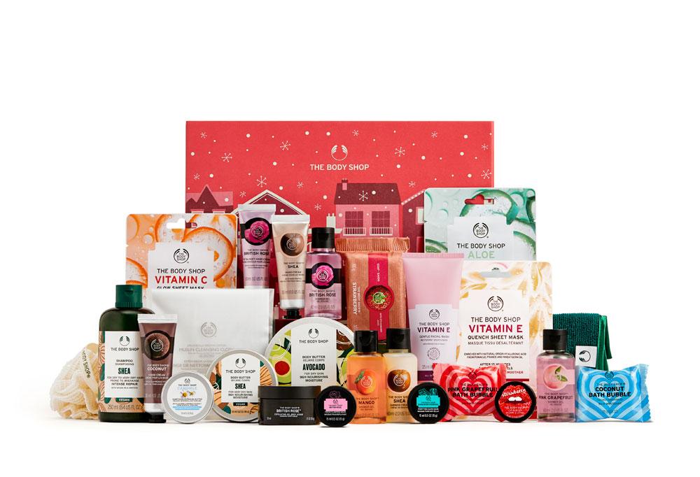 """Zum Einstieg in die diesjährige Ausgabe der """"schöner schenken"""" mit persönlichen Tipps für Beauty-Geschenke verlost sonrisa einen Adventskalender von The Body Shop."""