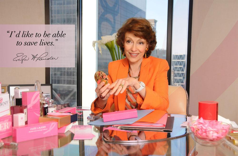 """The Estée Lauder Companies unterstützen die Pink Ribbon Kampagne 2021 mit dem Verkauf limitierter Produkte, aus deren Erlös ein Teil an """"Feel Good Look Better"""" gespendet wird."""